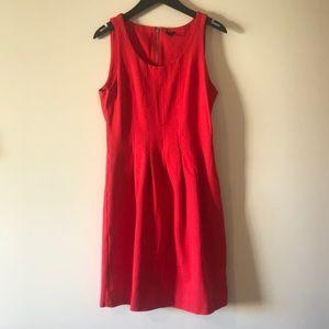 Jcrew Stretch Pleated Dress